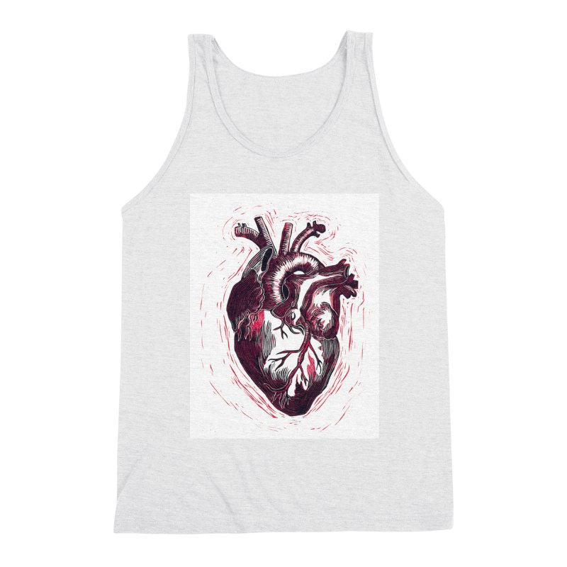 Anatomical Heart Men's Triblend Tank by HumAlong Productions