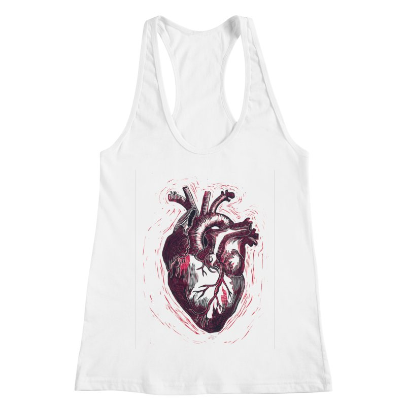 Anatomical Heart Women's Racerback Tank by HumAlong Productions