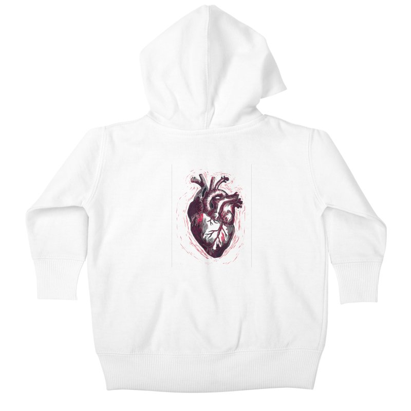 Anatomical Heart Kids Baby Zip-Up Hoody by HumAlong Productions