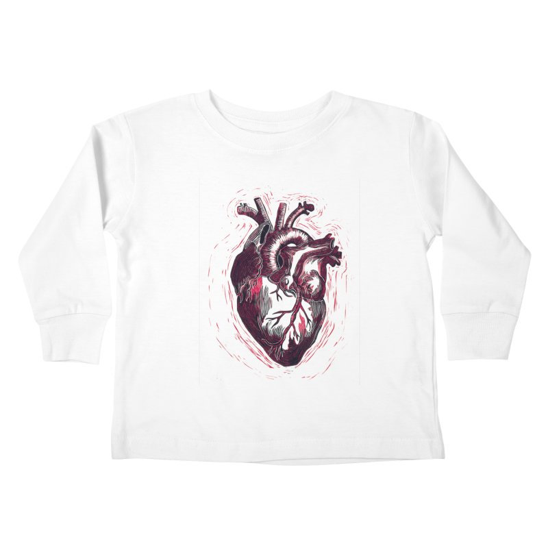 Anatomical Heart Kids Toddler Longsleeve T-Shirt by HumAlong Productions
