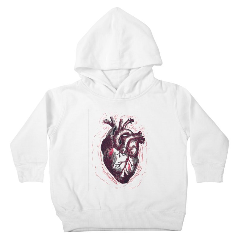 Anatomical Heart Kids Toddler Pullover Hoody by HumAlong Productions