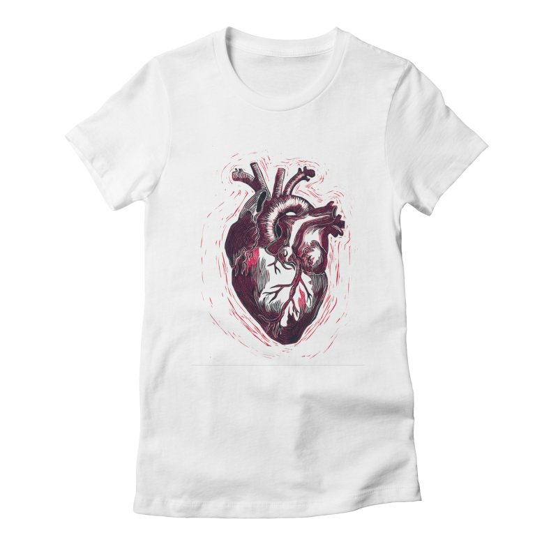 Anatomical Heart Women's Fitted T-Shirt by HumAlong Productions