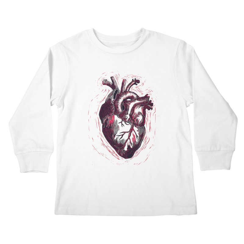 Anatomical Heart Kids Longsleeve T-Shirt by HumAlong Productions