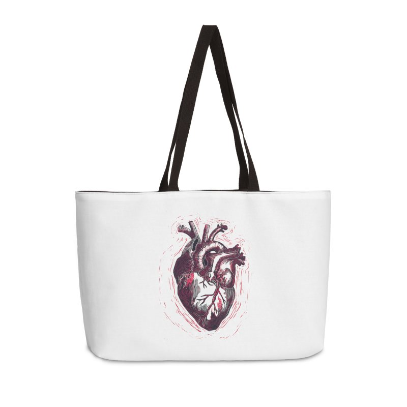 Anatomical Heart Accessories Weekender Bag Bag by HumAlong Productions