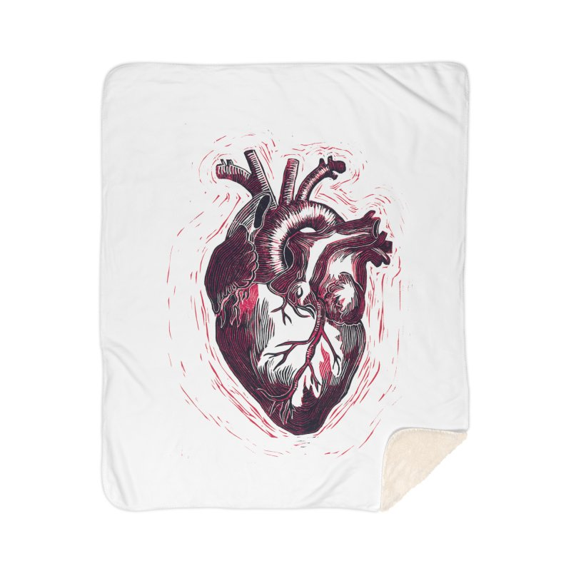 Anatomical Heart Home Sherpa Blanket Blanket by HumAlong Productions