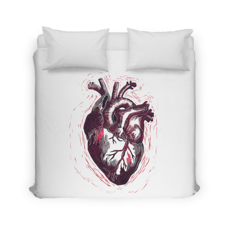 Anatomical Heart Home Duvet by HumAlong Productions