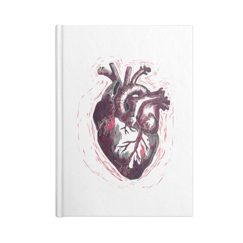 Anatomical Heart Accessories Lined Journal Notebook by HumAlong Productions