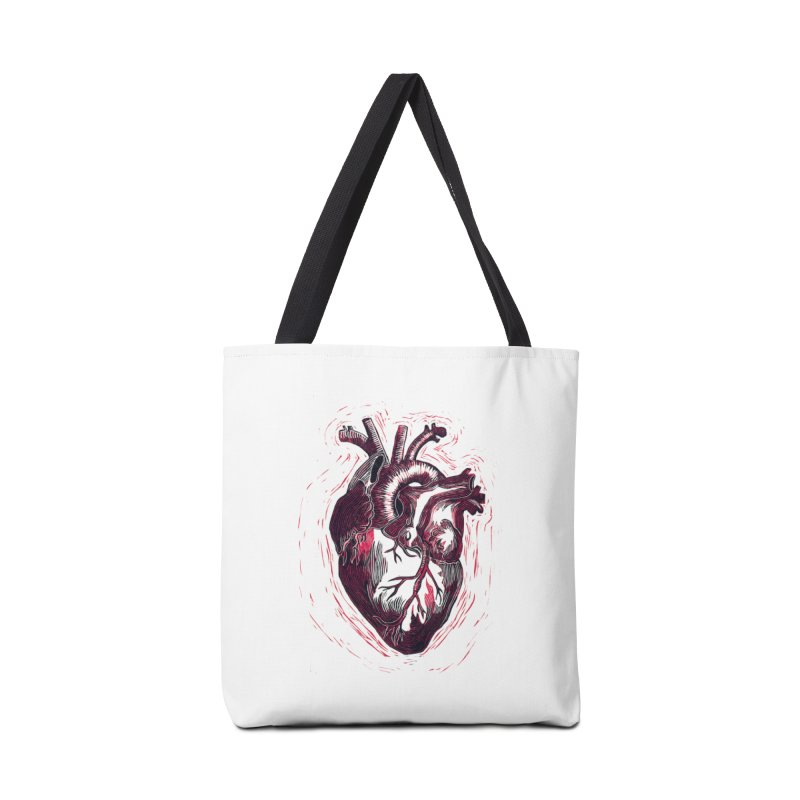 Anatomical Heart Accessories Tote Bag Bag by HumAlong Productions