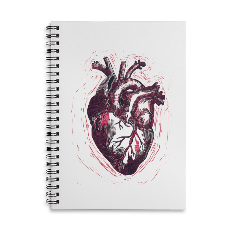 Anatomical Heart Accessories Lined Spiral Notebook by HumAlong Productions