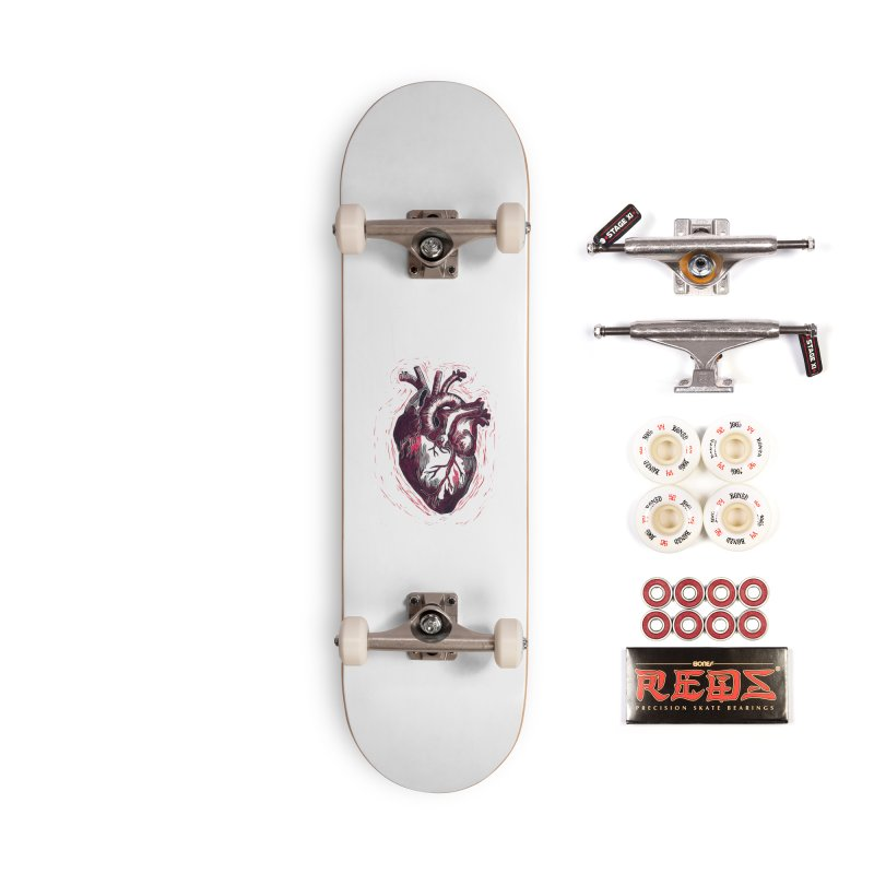 Anatomical Heart Accessories Complete - Pro Skateboard by HumAlong Productions