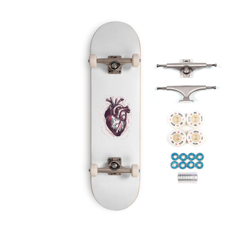 Anatomical Heart Accessories Complete - Premium Skateboard by HumAlong Productions