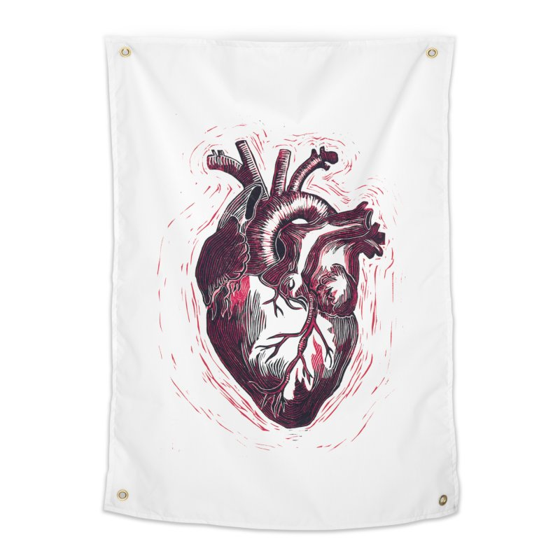 Anatomical Heart Home Tapestry by HumAlong Productions