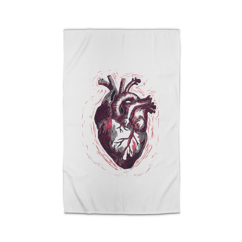 Anatomical Heart Home Rug by HumAlong Productions