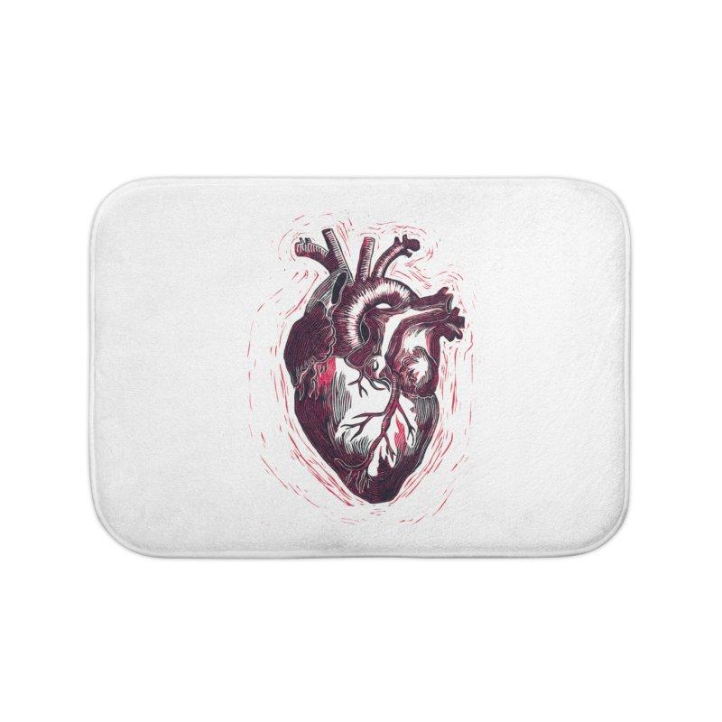 Anatomical Heart Home Bath Mat by HumAlong Productions