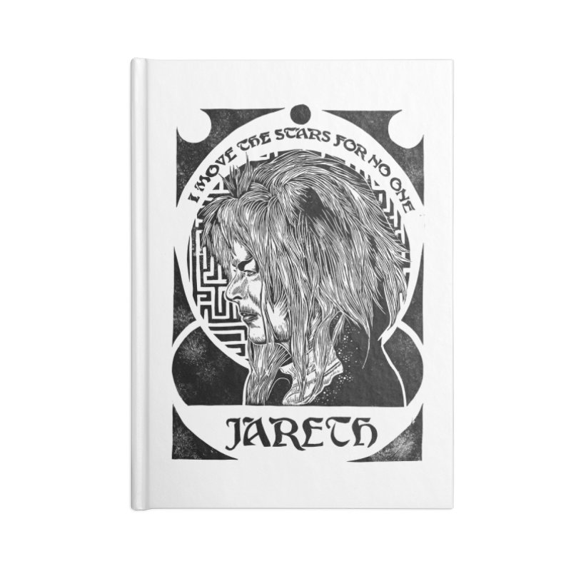 Goblin King Accessories Lined Journal Notebook by HumAlong Productions