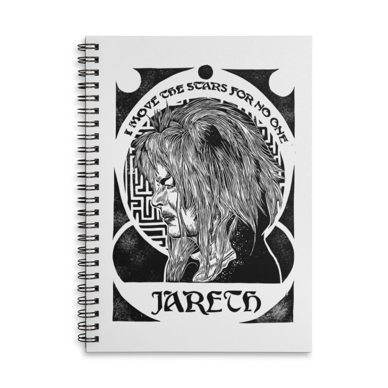 Goblin King Accessories Lined Spiral Notebook by HumAlong Productions