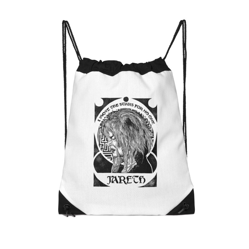Goblin King Accessories Drawstring Bag Bag by HumAlong Productions
