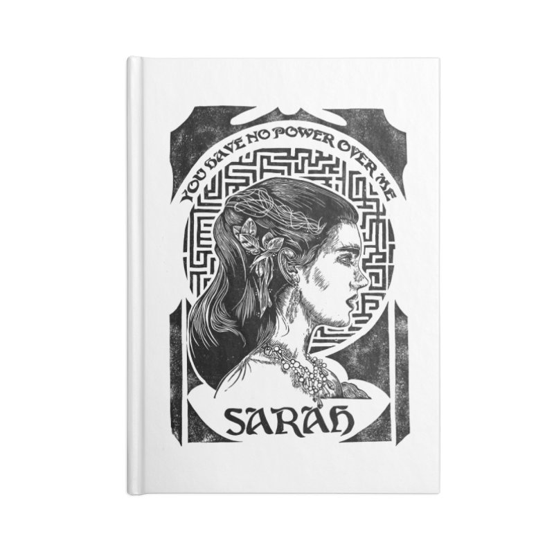 Sarah Accessories Lined Journal Notebook by HumAlong Productions