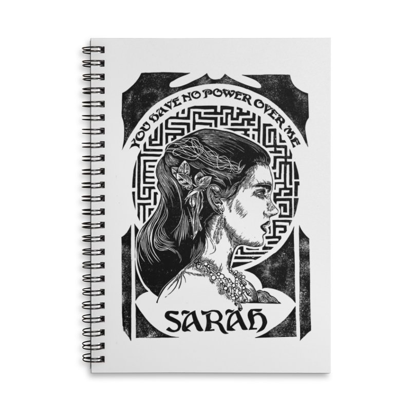 Sarah Accessories Lined Spiral Notebook by HumAlong Productions