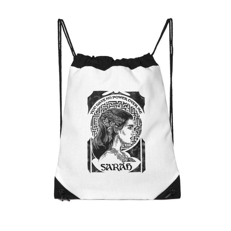Sarah Accessories Drawstring Bag Bag by HumAlong Productions
