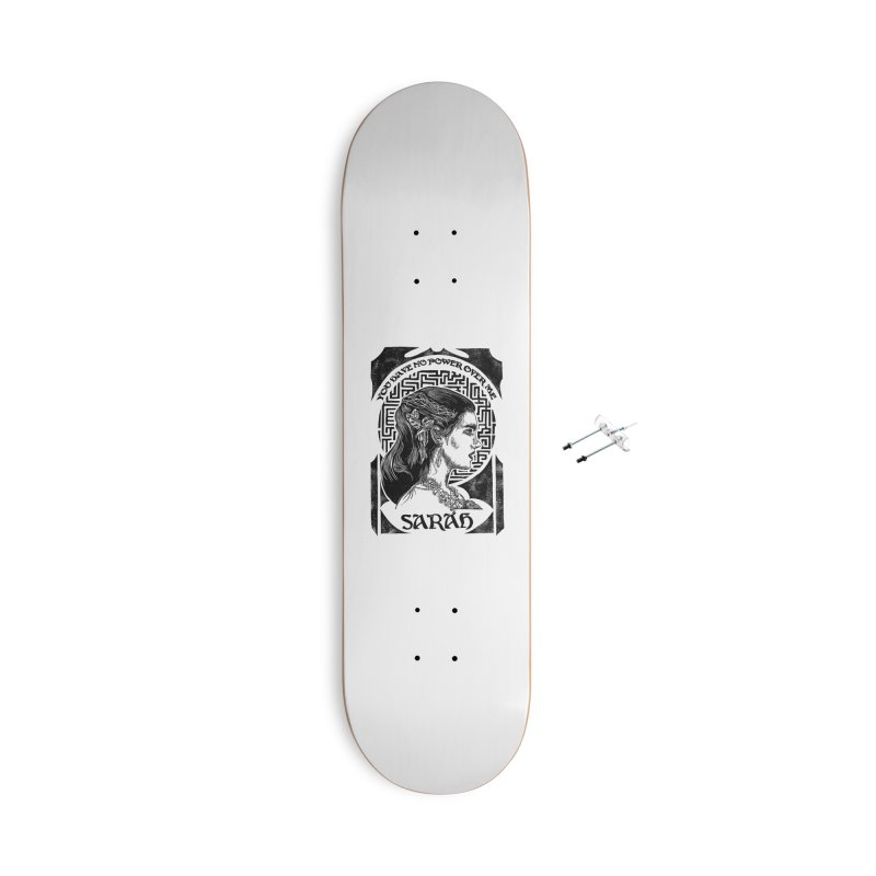Sarah Accessories With Hanging Hardware Skateboard by HumAlong Productions