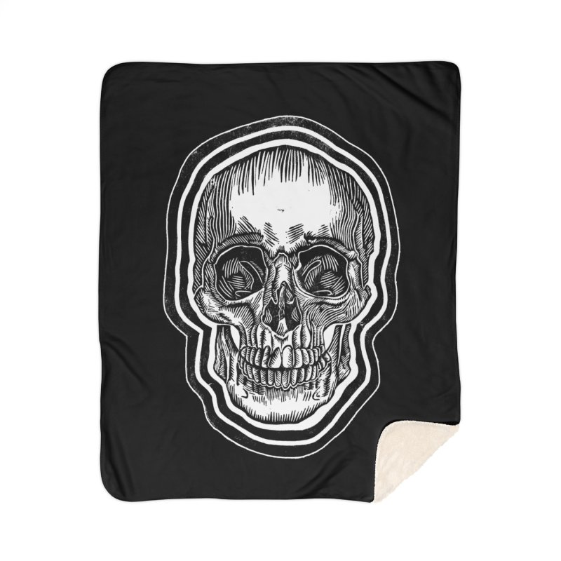 Bad Vibes Home Sherpa Blanket Blanket by HumAlong Productions