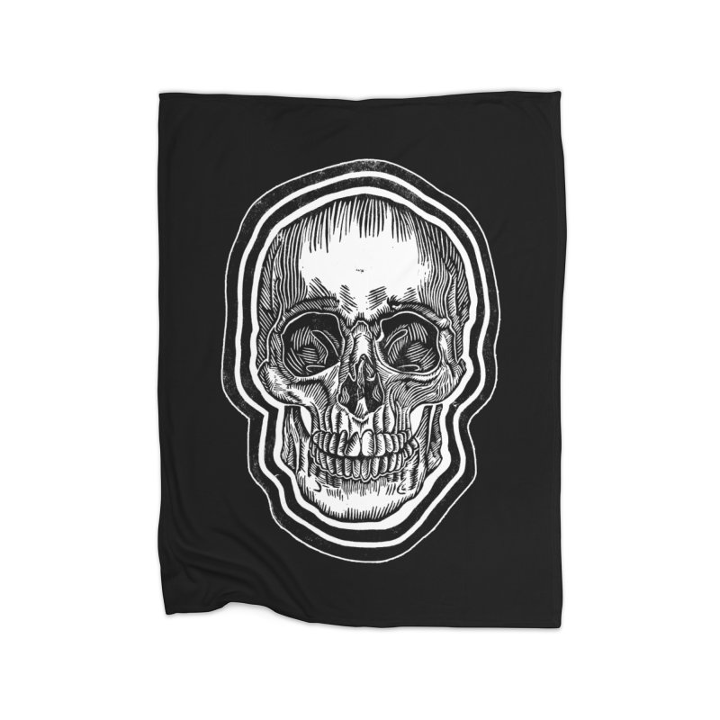 Bad Vibes Home Fleece Blanket Blanket by HumAlong Productions