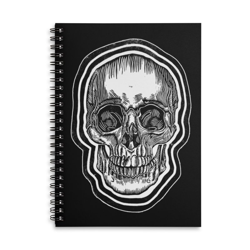 Bad Vibes Accessories Lined Spiral Notebook by HumAlong Productions