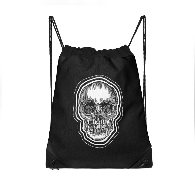 Bad Vibes Accessories Drawstring Bag Bag by HumAlong Productions
