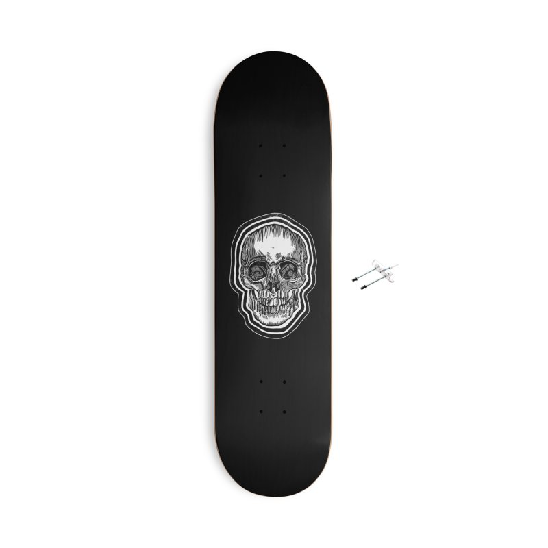 Bad Vibes Accessories With Hanging Hardware Skateboard by HumAlong Productions