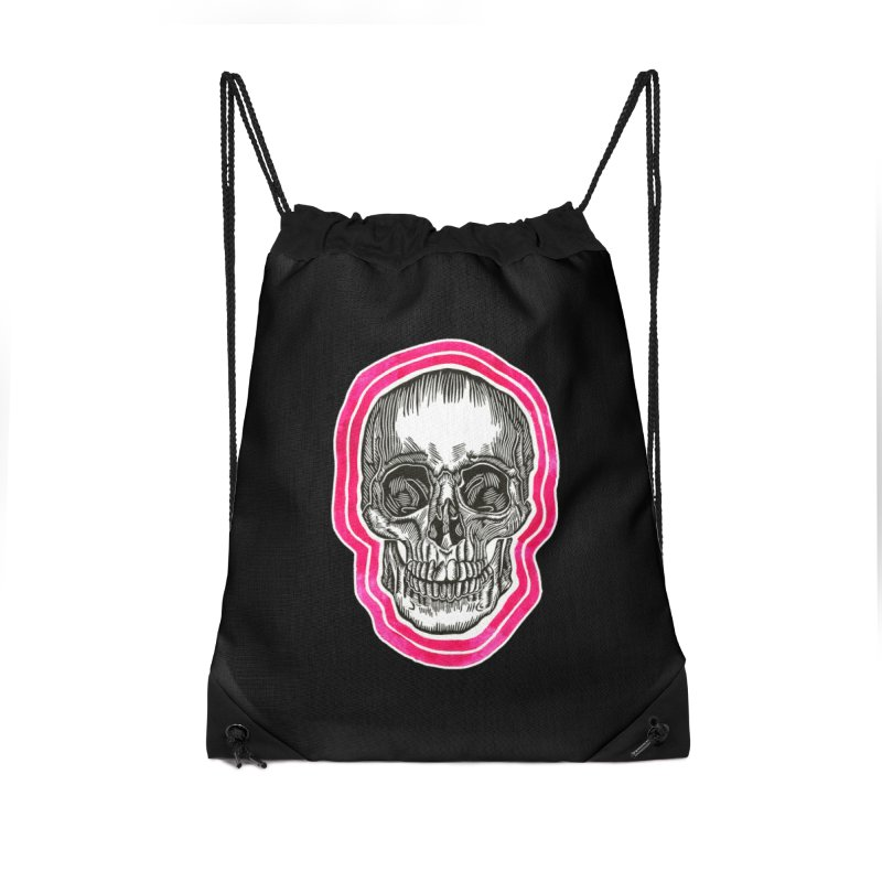 Good Vibes Accessories Drawstring Bag Bag by HumAlong Productions