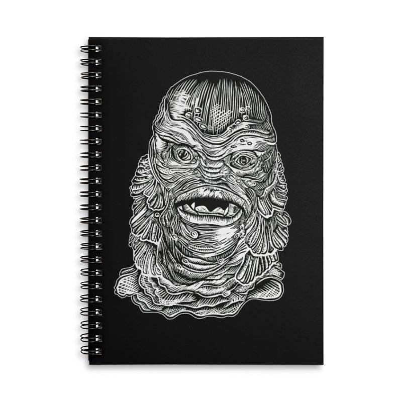 Creature Accessories Lined Spiral Notebook by HumAlong Productions