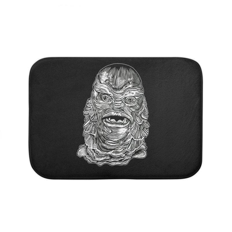 Creature Home Bath Mat by HumAlong Productions