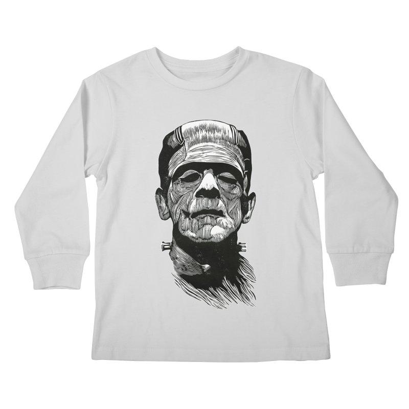 Frank Kids Longsleeve T-Shirt by HumAlong Productions