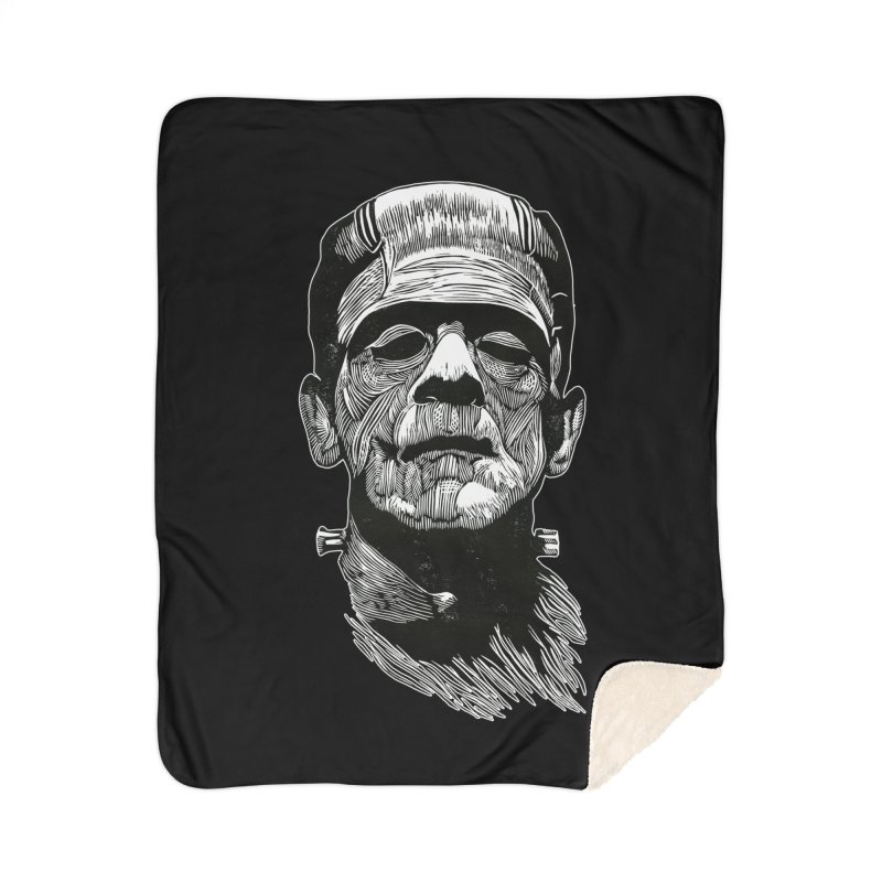 Frank Home Sherpa Blanket Blanket by HumAlong Productions