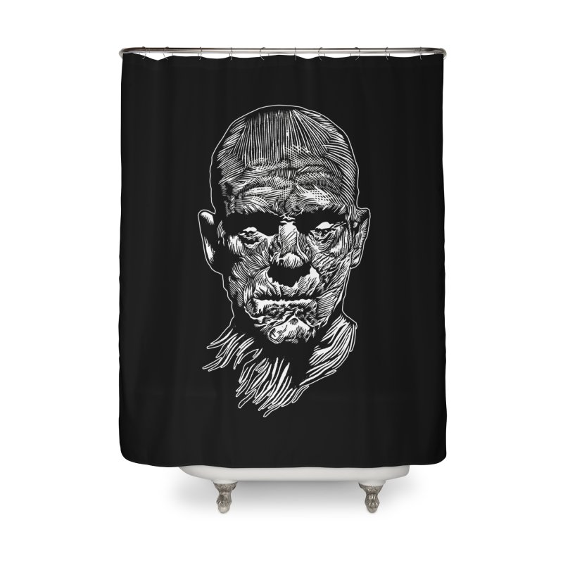 Mummy Home Shower Curtain by HumAlong Productions