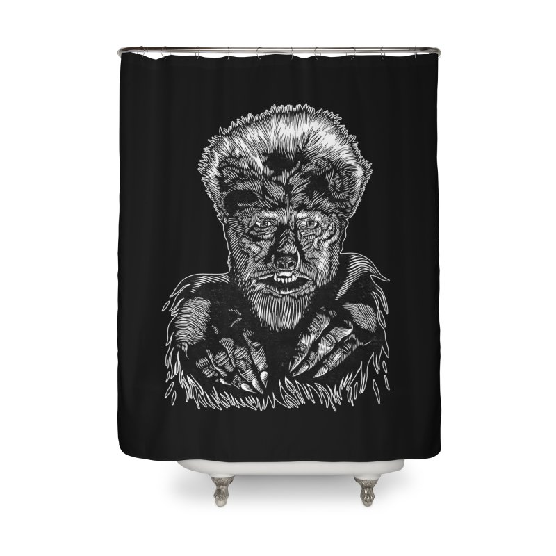 Wolfman Home Shower Curtain by HumAlong Productions