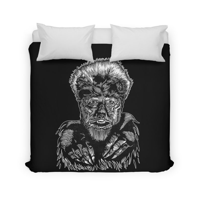 Wolfman Home Duvet by HumAlong Productions