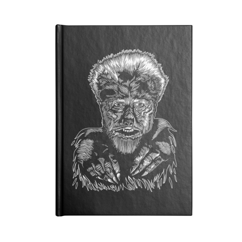 Wolfman Accessories Lined Journal Notebook by HumAlong Productions