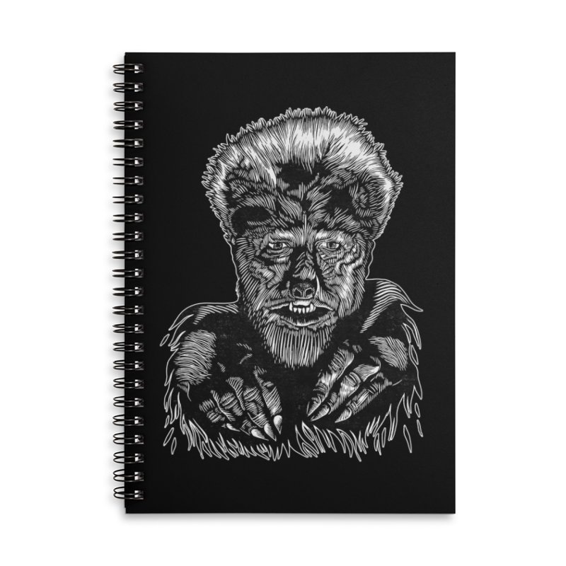 Wolfman Accessories Lined Spiral Notebook by HumAlong Productions