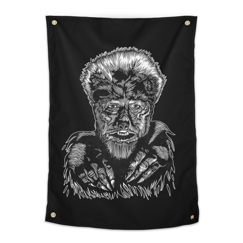 Wolfman Home Tapestry by HumAlong Productions