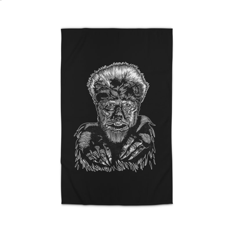 Wolfman Home Rug by HumAlong Productions