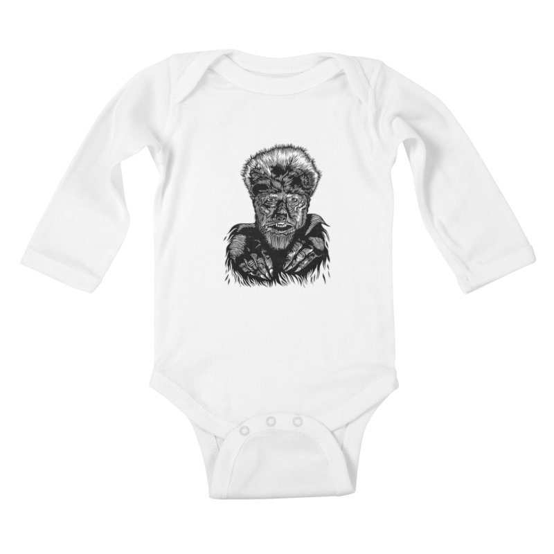 Wolfman Kids Baby Longsleeve Bodysuit by HumAlong Productions