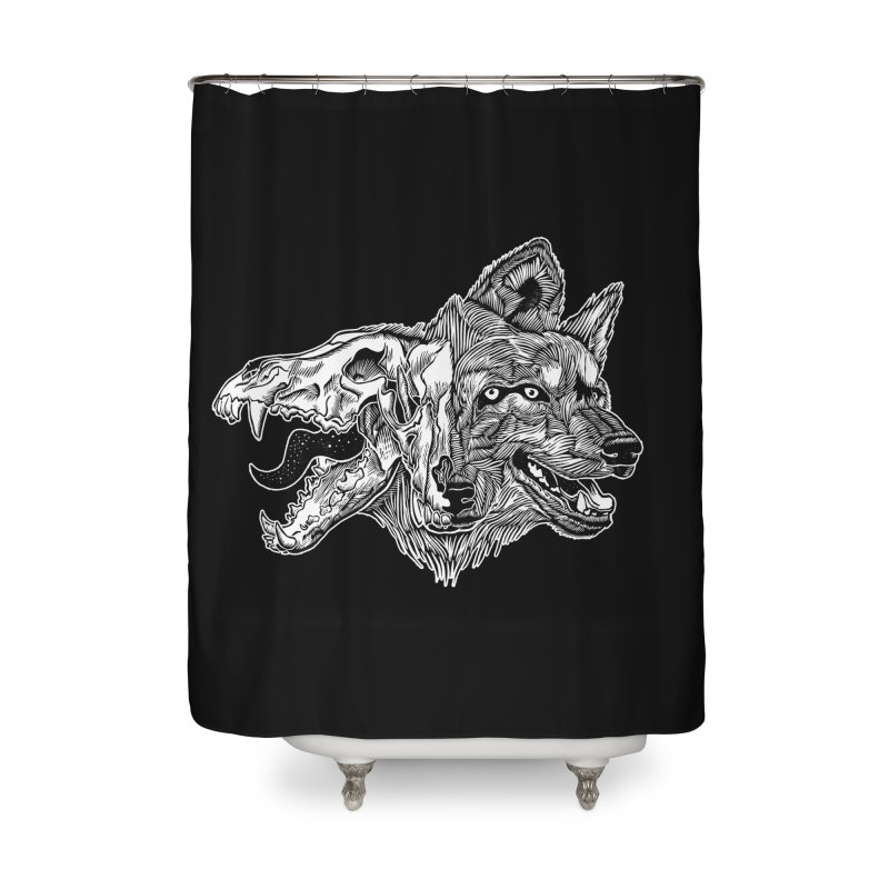 Tearing Free Home Shower Curtain by HumAlong Productions