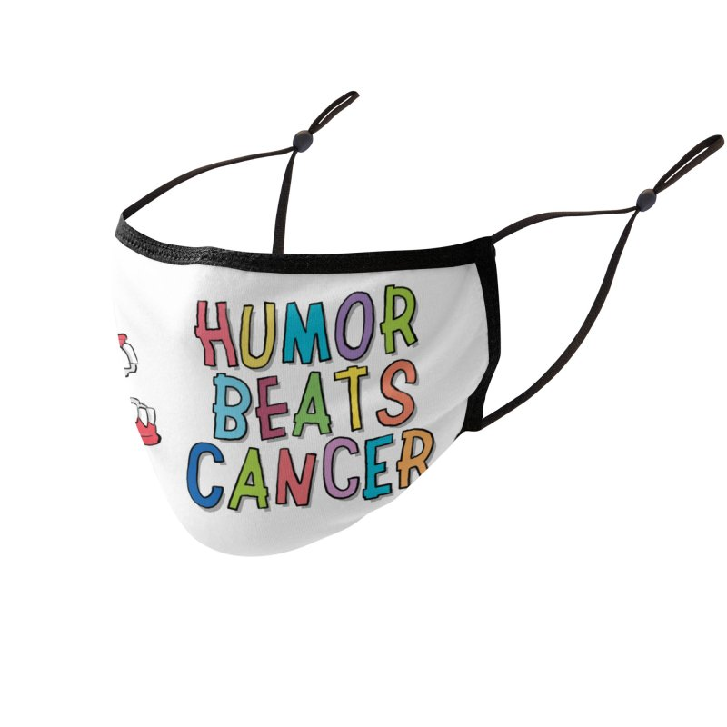 Humor Beats Cancer Accessories Face Mask by Humor Beats Cancer's Artist Shop
