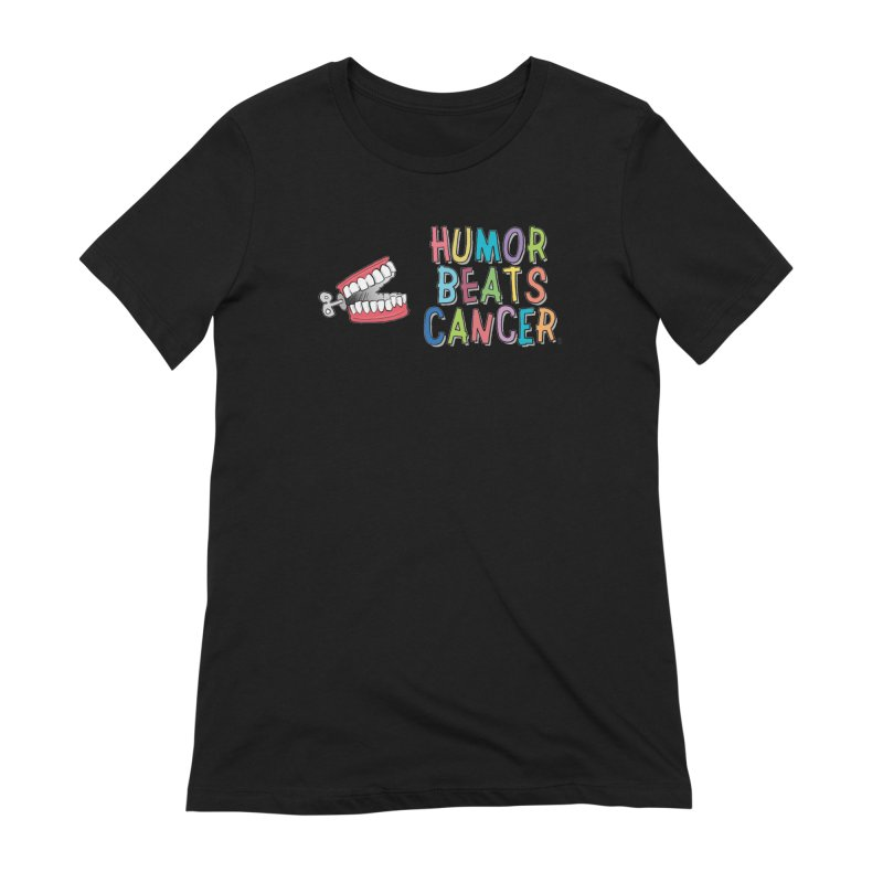 Humor Beats Cancer Women's Extra Soft T-Shirt by Humor Beats Cancer's Artist Shop