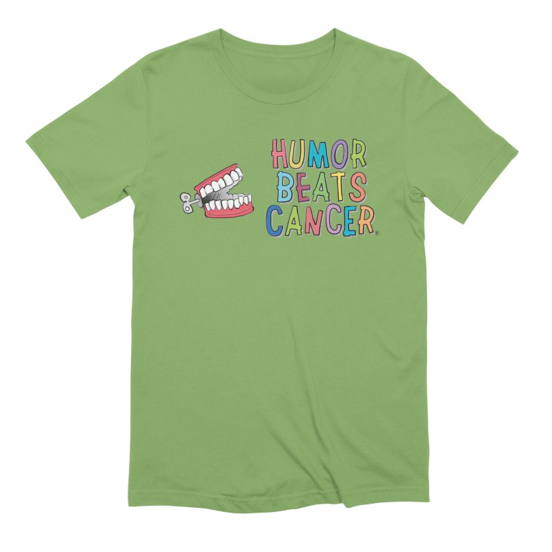 Humor Beats Cancer Men's Extra Soft T-Shirt by Humor Beats Cancer's Artist Shop