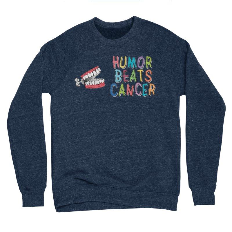 Humor Beats Cancer Men's Sponge Fleece Sweatshirt by Humor Beats Cancer's Artist Shop