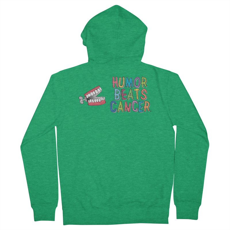 Humor Beats Cancer Women's French Terry Zip-Up Hoody by Humor Beats Cancer's Artist Shop