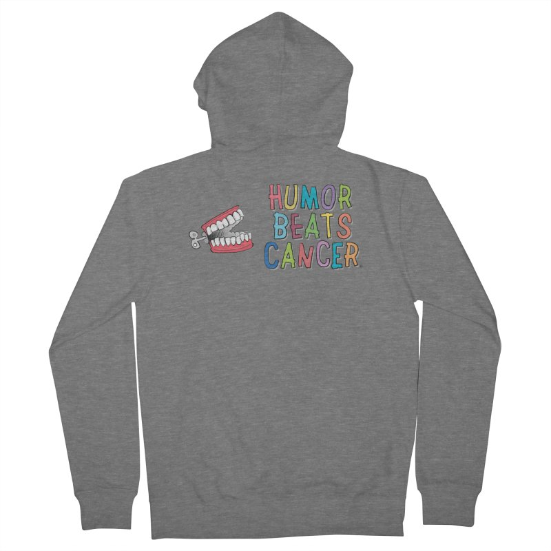 Humor Beats Cancer Men's French Terry Zip-Up Hoody by Humor Beats Cancer's Artist Shop